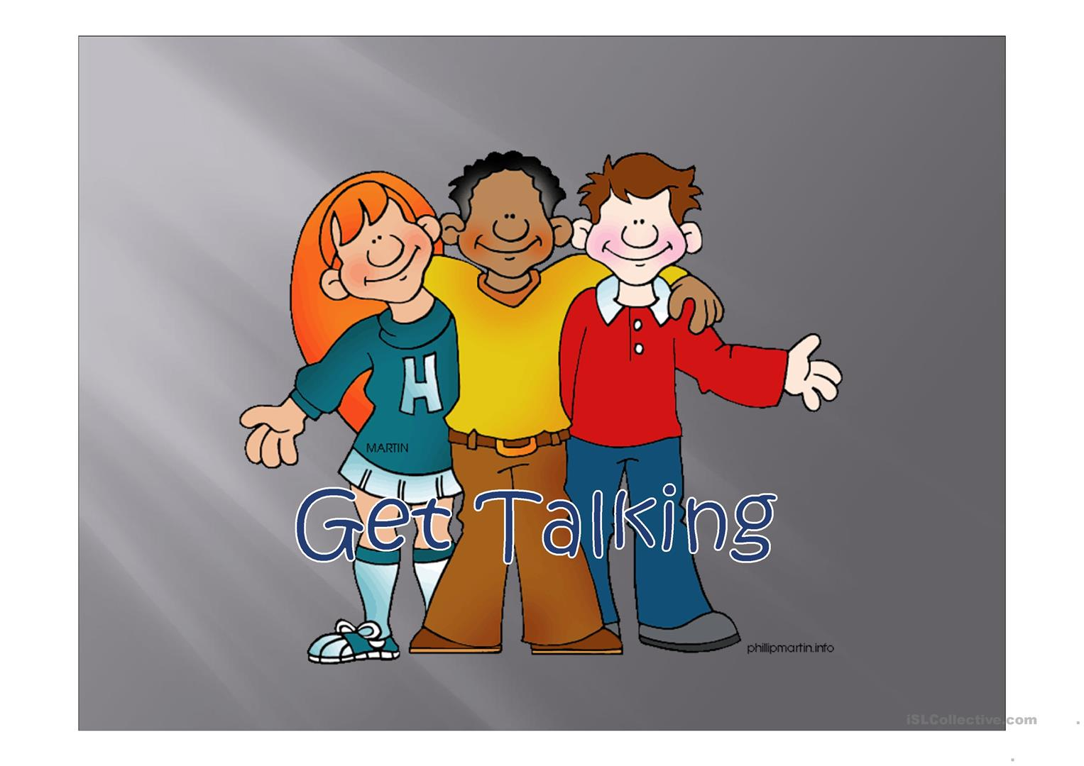 Get Talking Worksheet