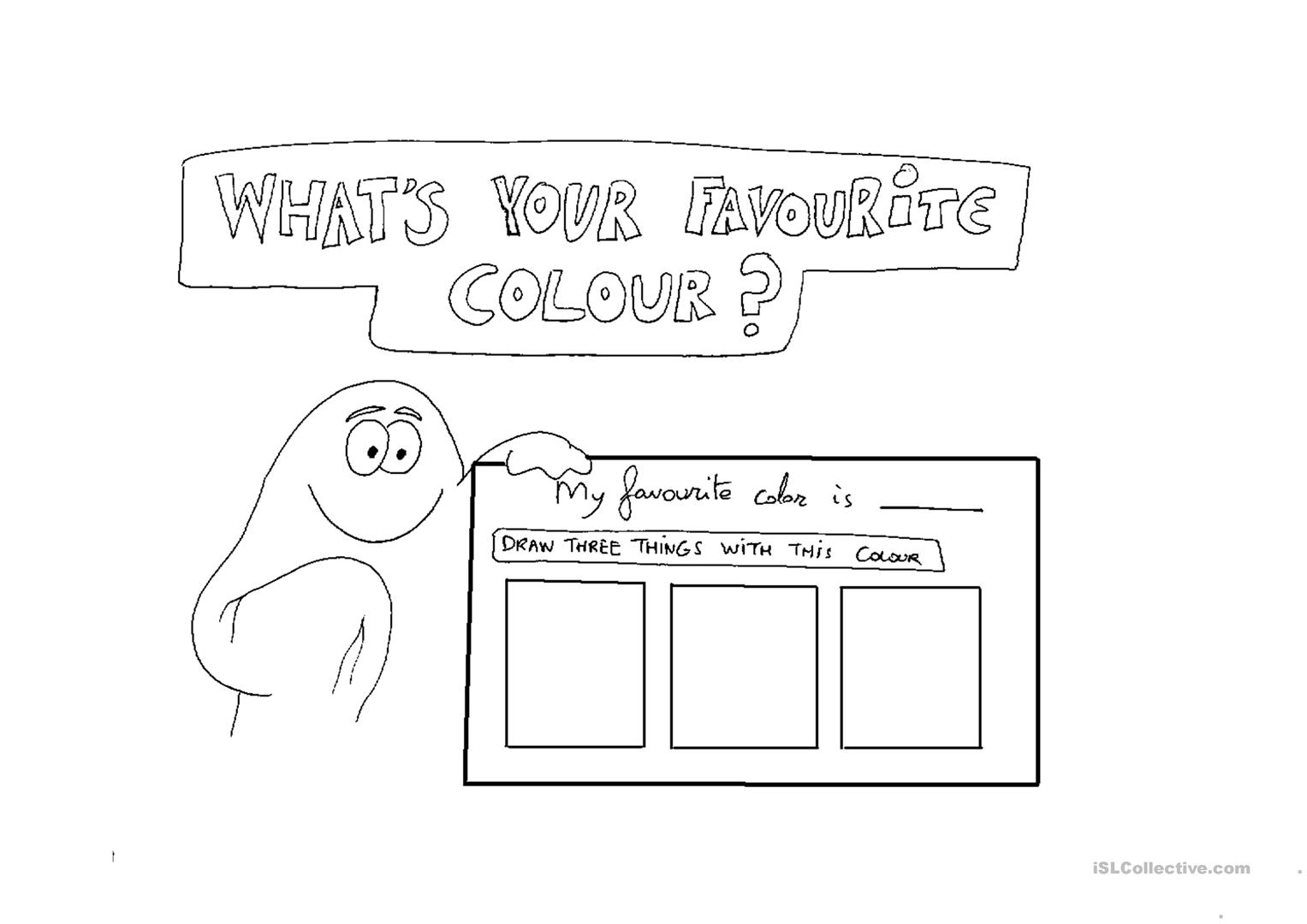 Whats Your Favourite Color Worksheet