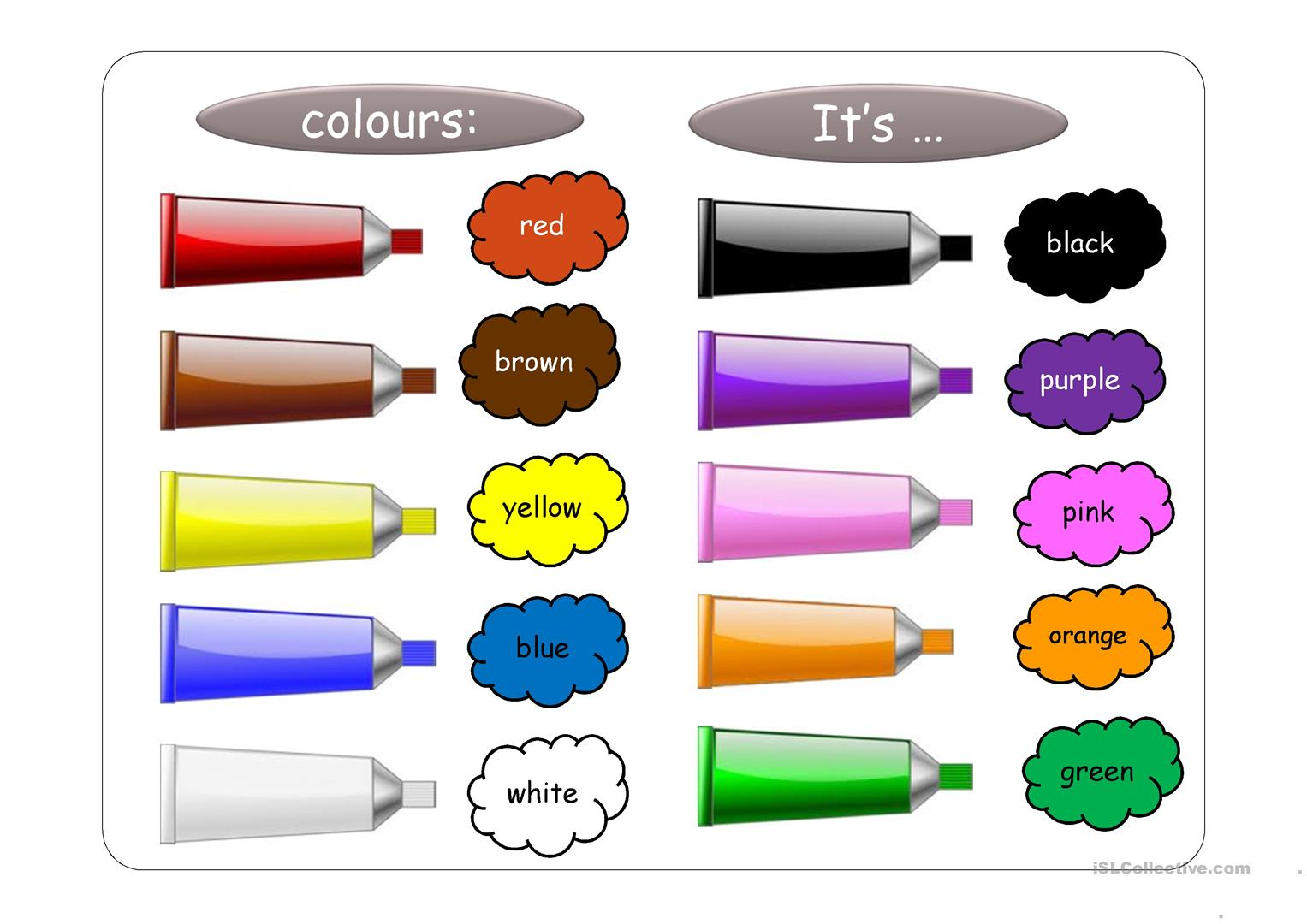 Colours And Classroom Objects Ppt Worksheet