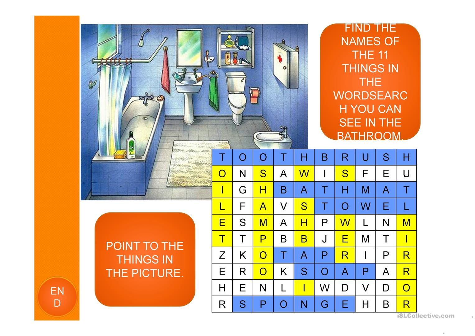 Rooms In A House Ppt Worksheet