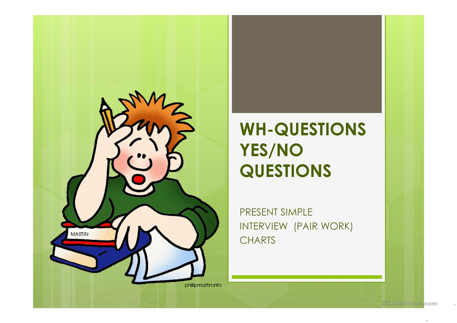 Wh Questions And Yes No Questions Ppt