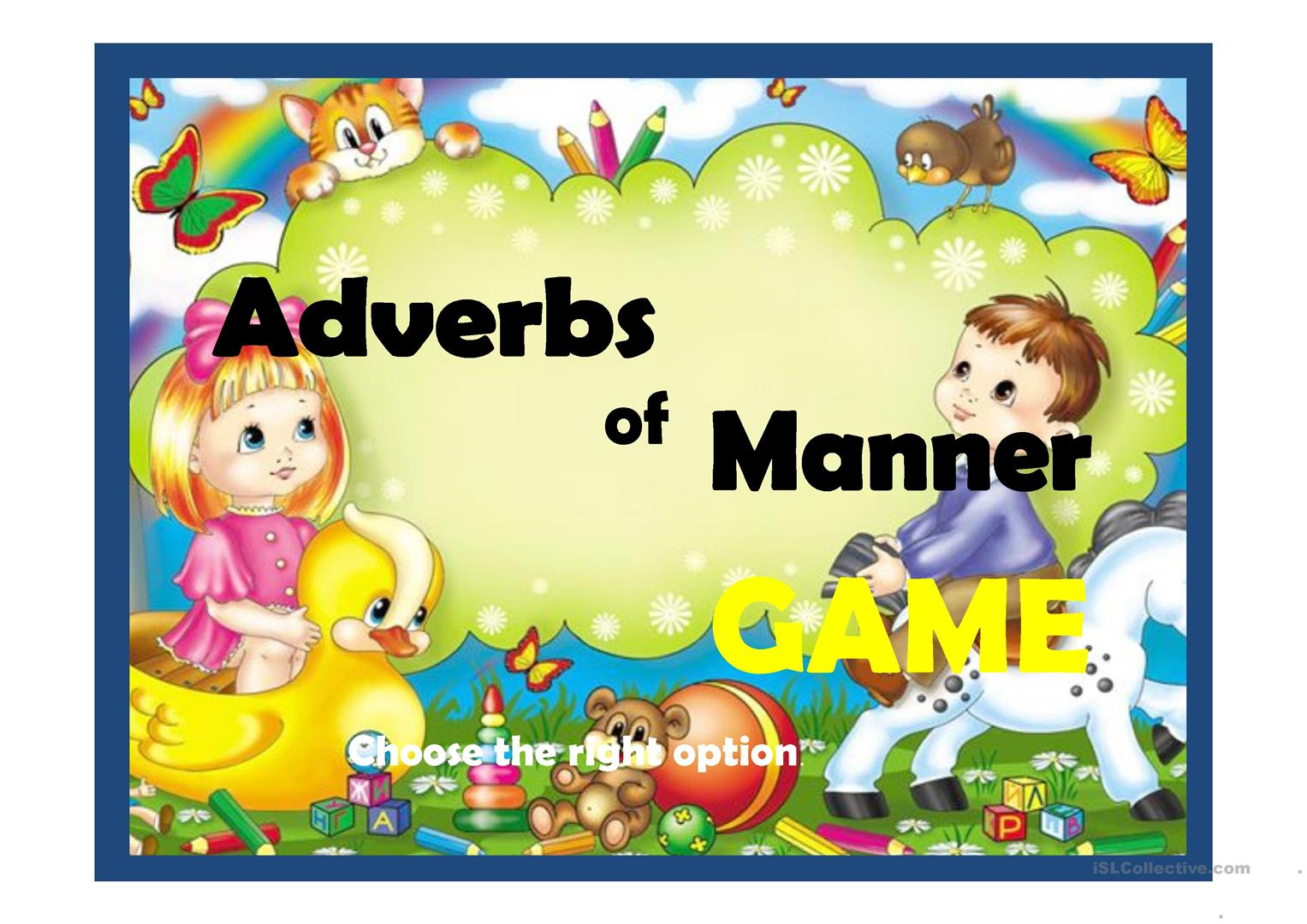 Adverbs Of Manner Worksheet