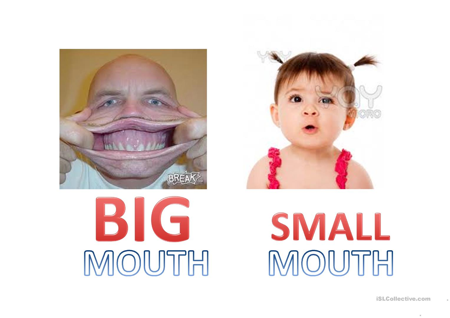Big Mouth Worksheet