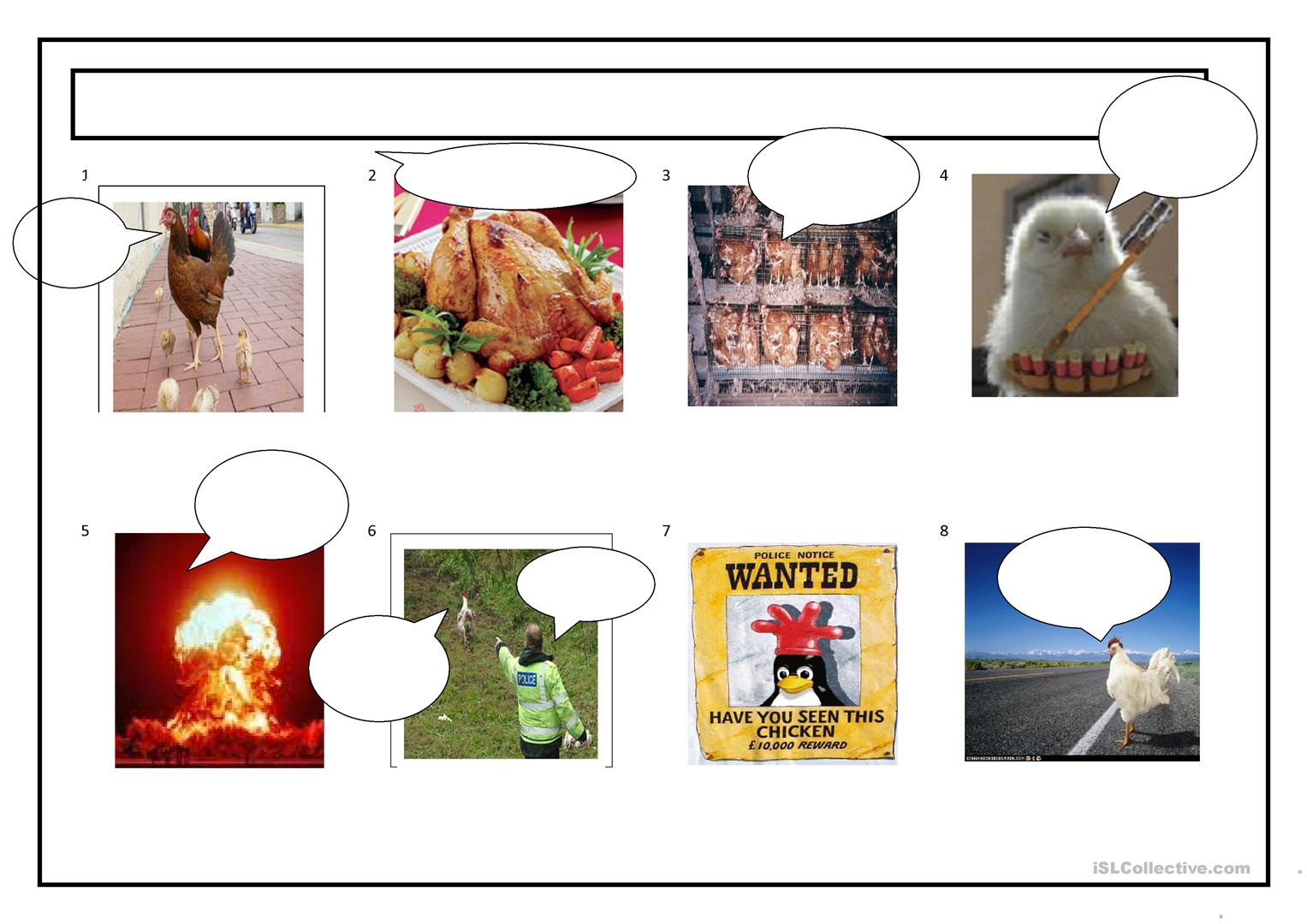 Easter Chicken Storyboard Worksheet