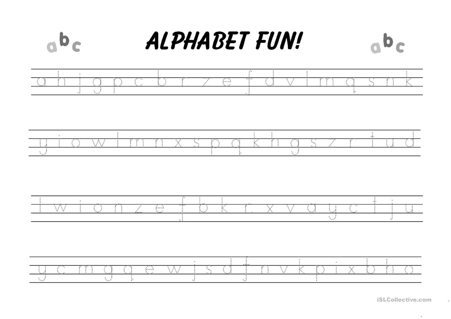 Alphabet Writing Practice Worksheet