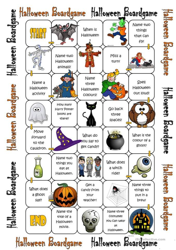 Halloween Board Games Printable Free | Ownercartoon.co
