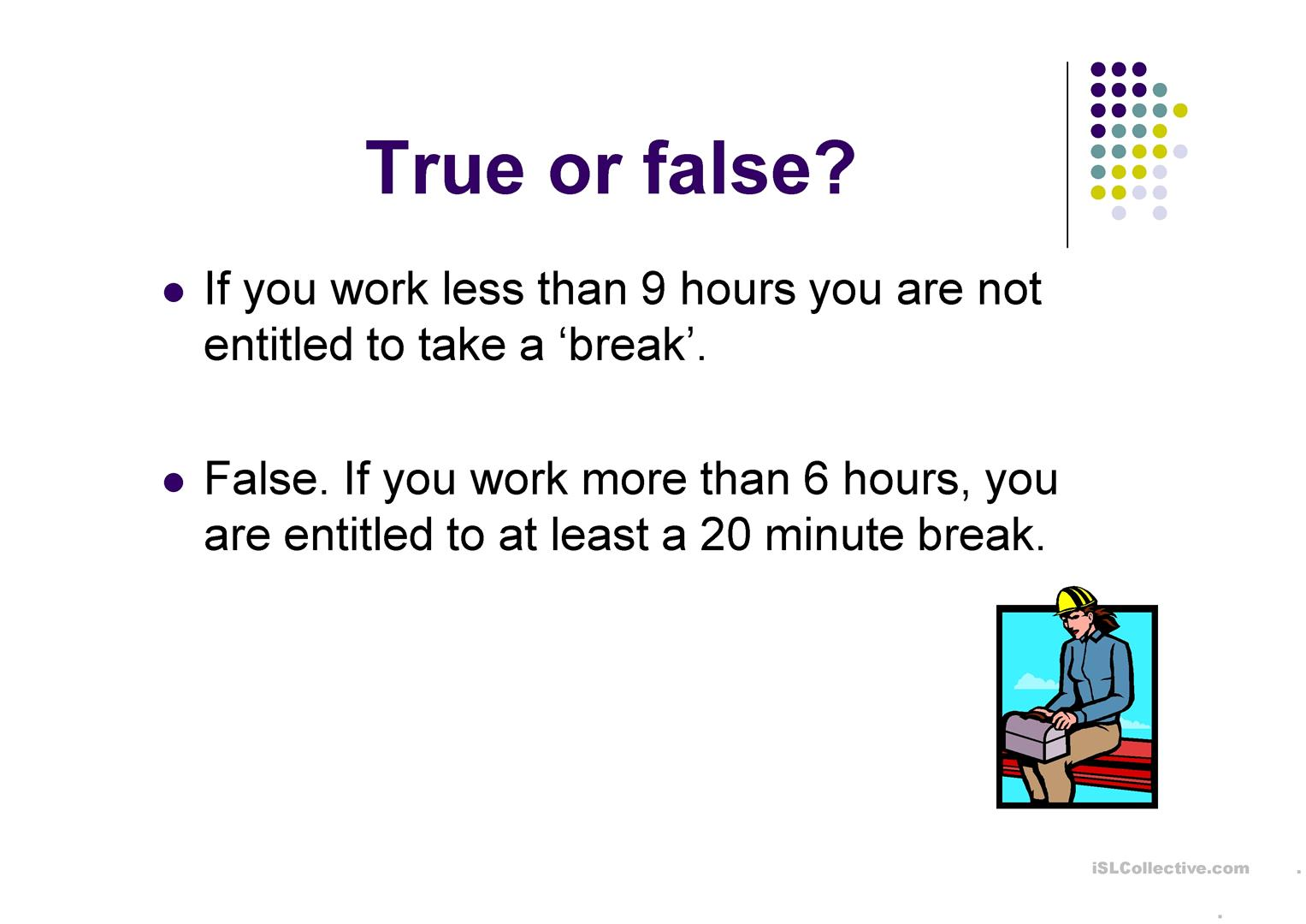 Know Your Rights At Work Worksheet