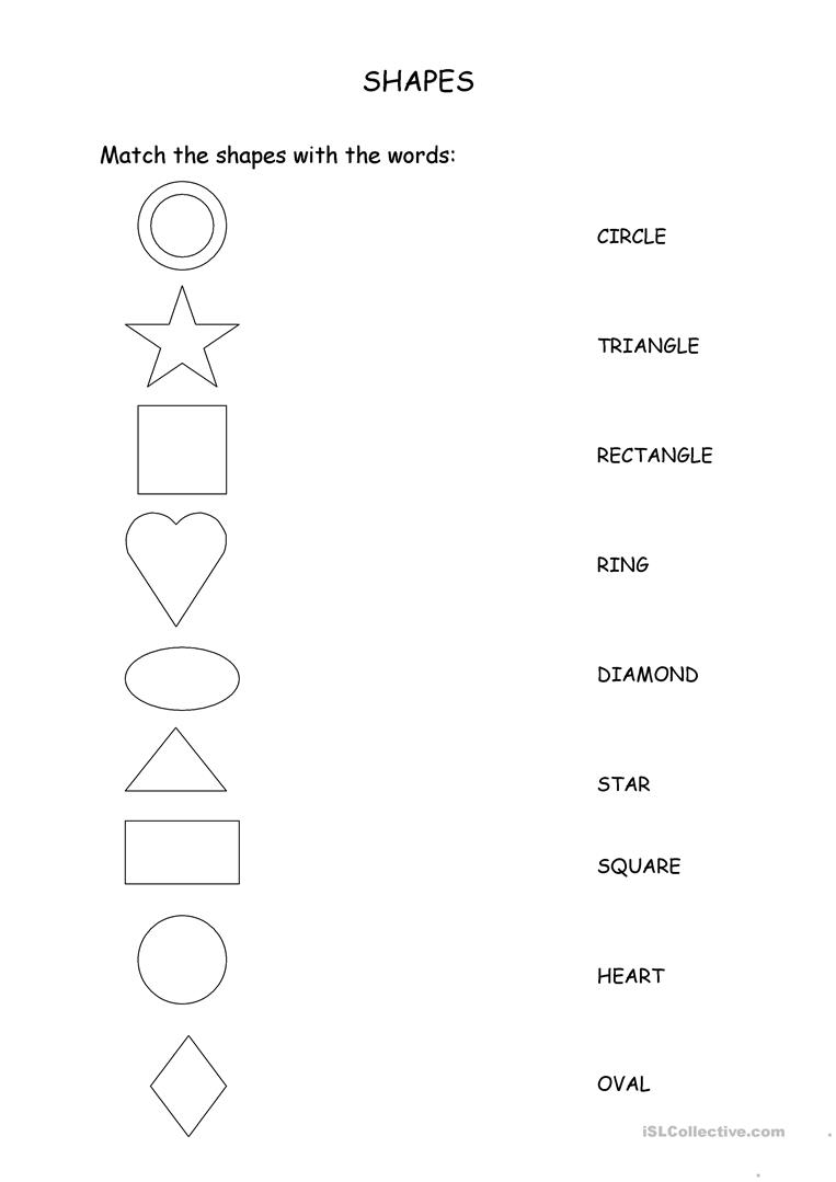 Match The Shapes With The Words