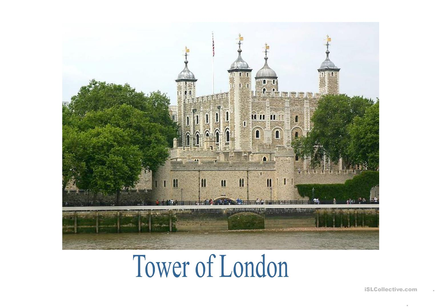What To See In London Worksheet