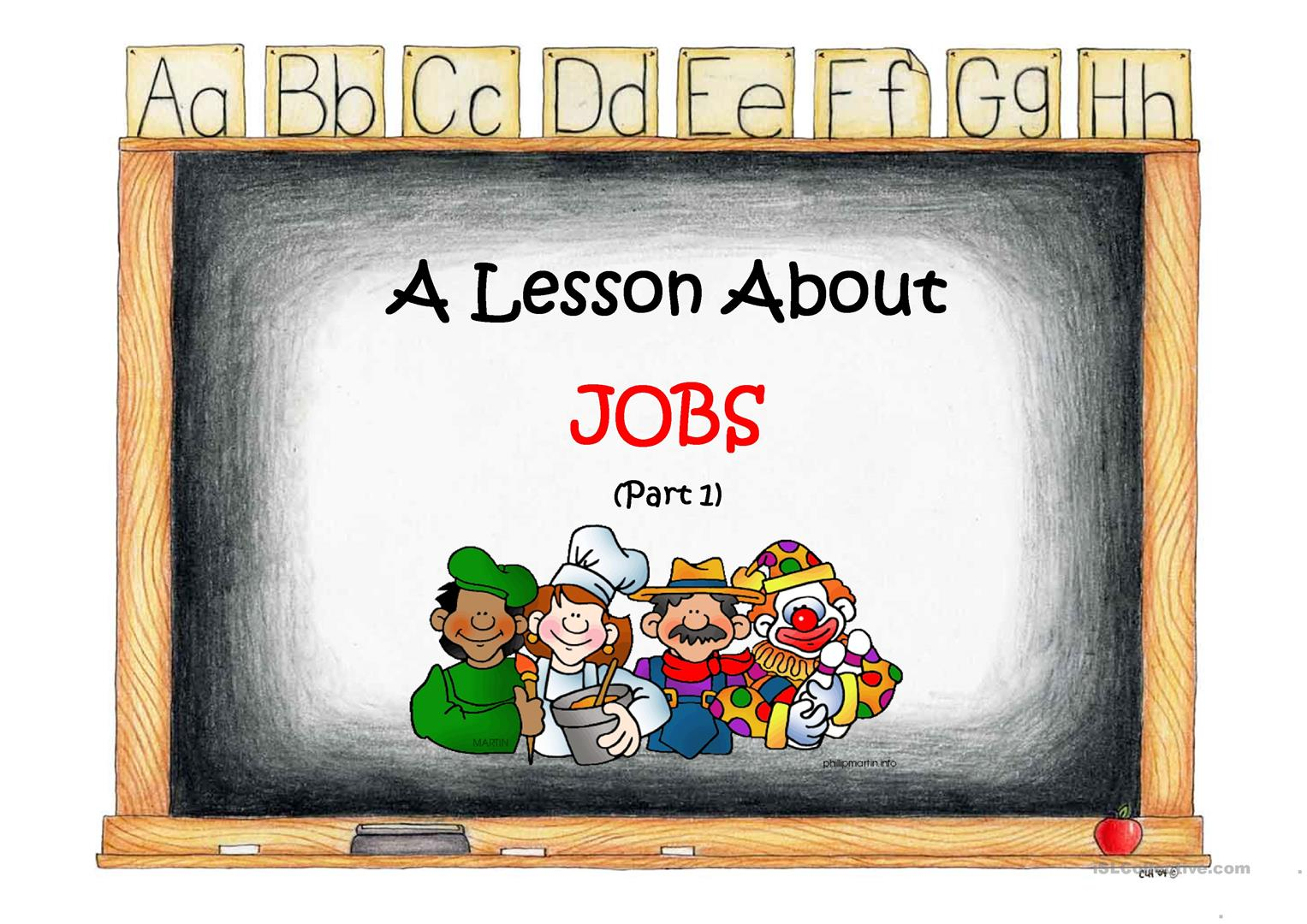 A Lesson About Jobs Worksheet