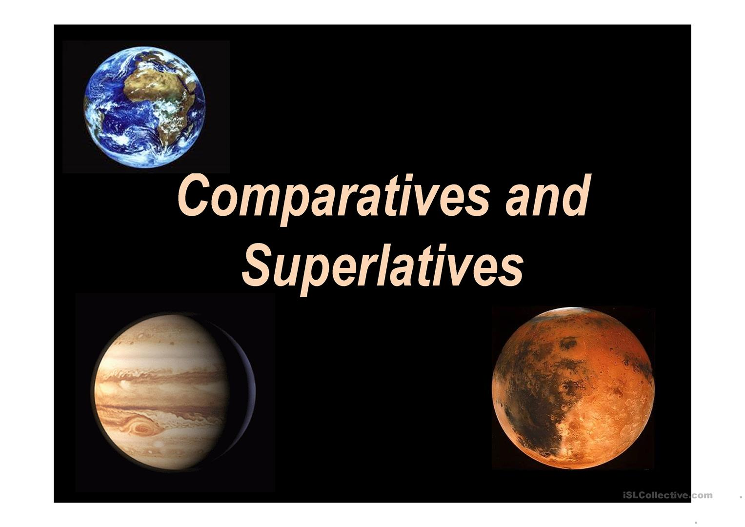 Comparatives And Superlatives Planets Worksheet