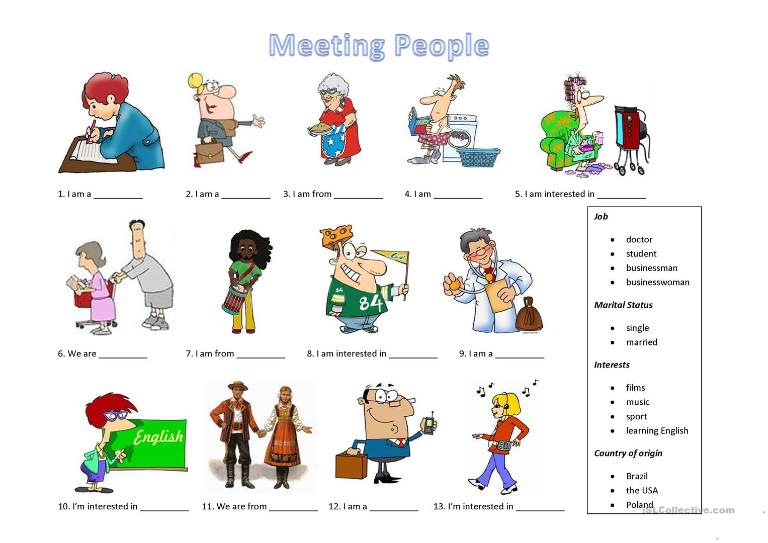 Meeting People Worksheet