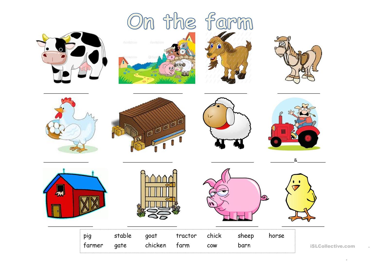 Products Farm Worksheet For Preschoolers