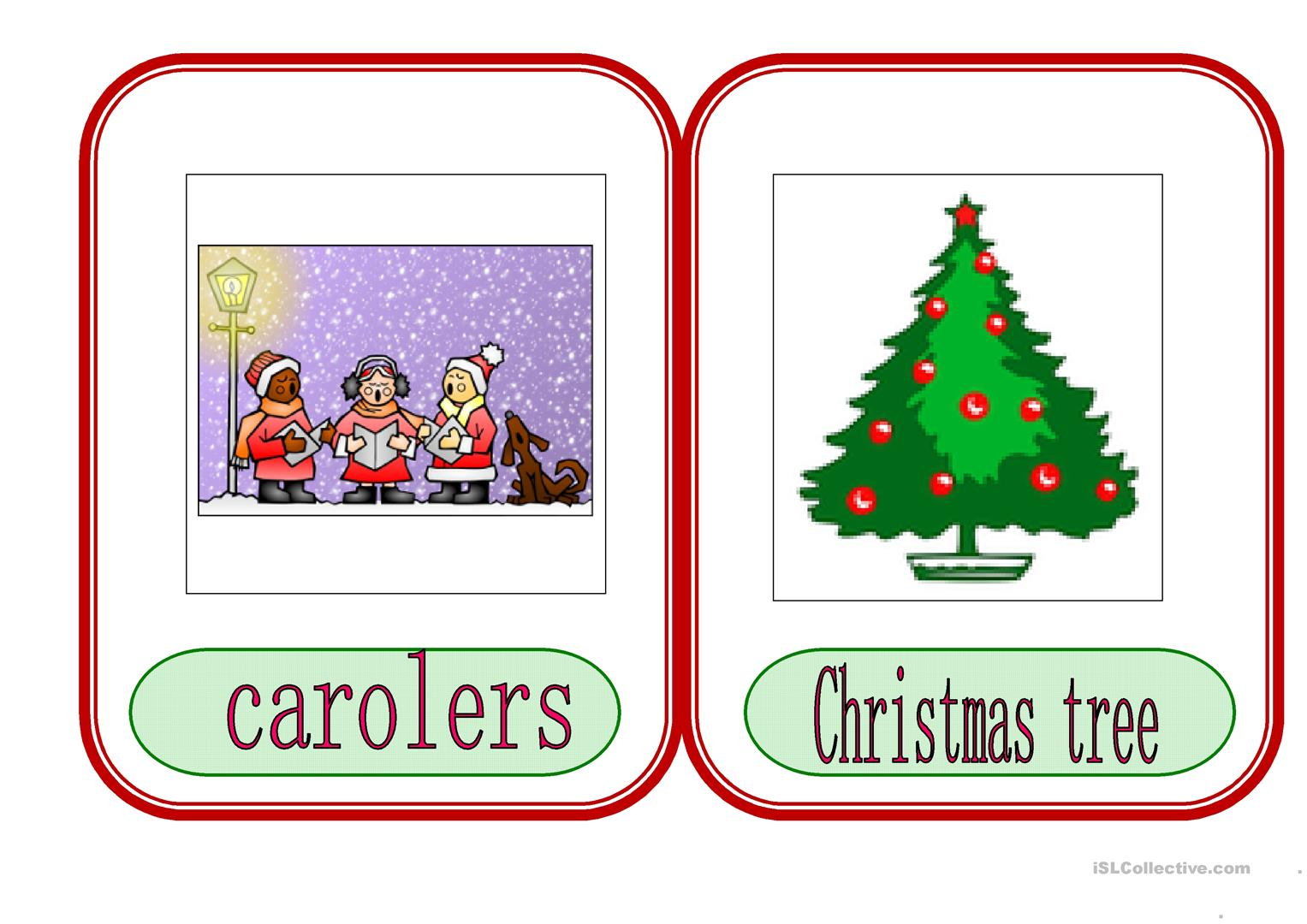 Christmas Flashcards 1 Worksheet