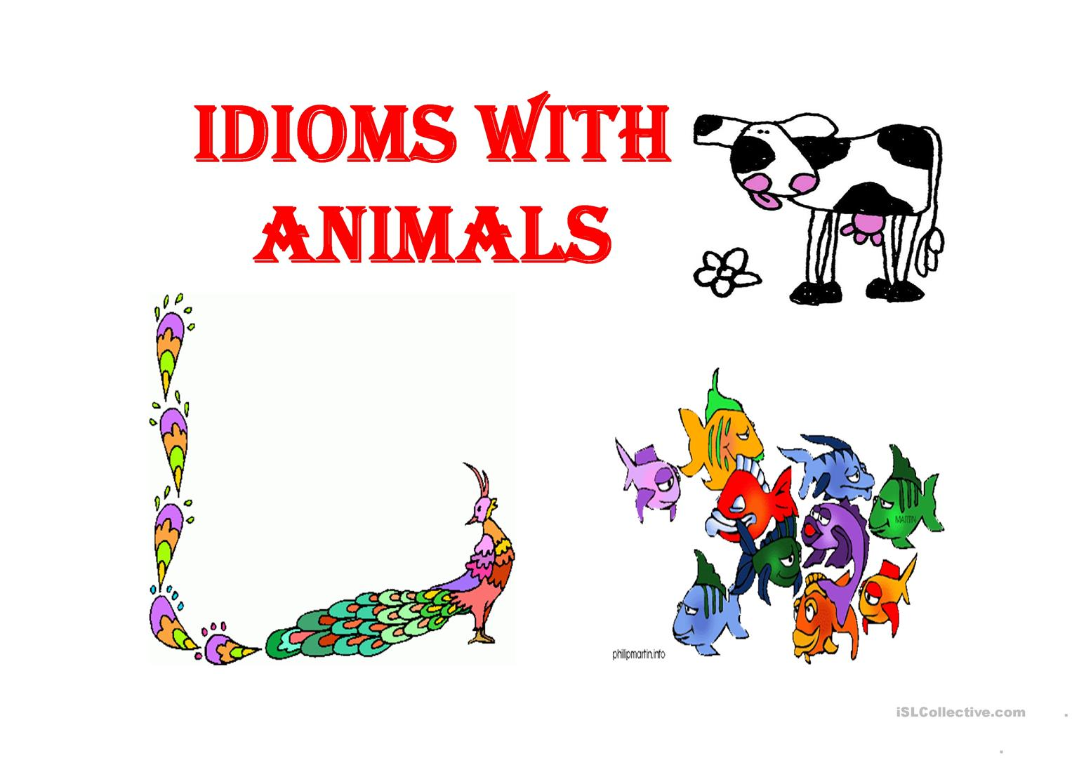 Idioms With Animals Worksheet
