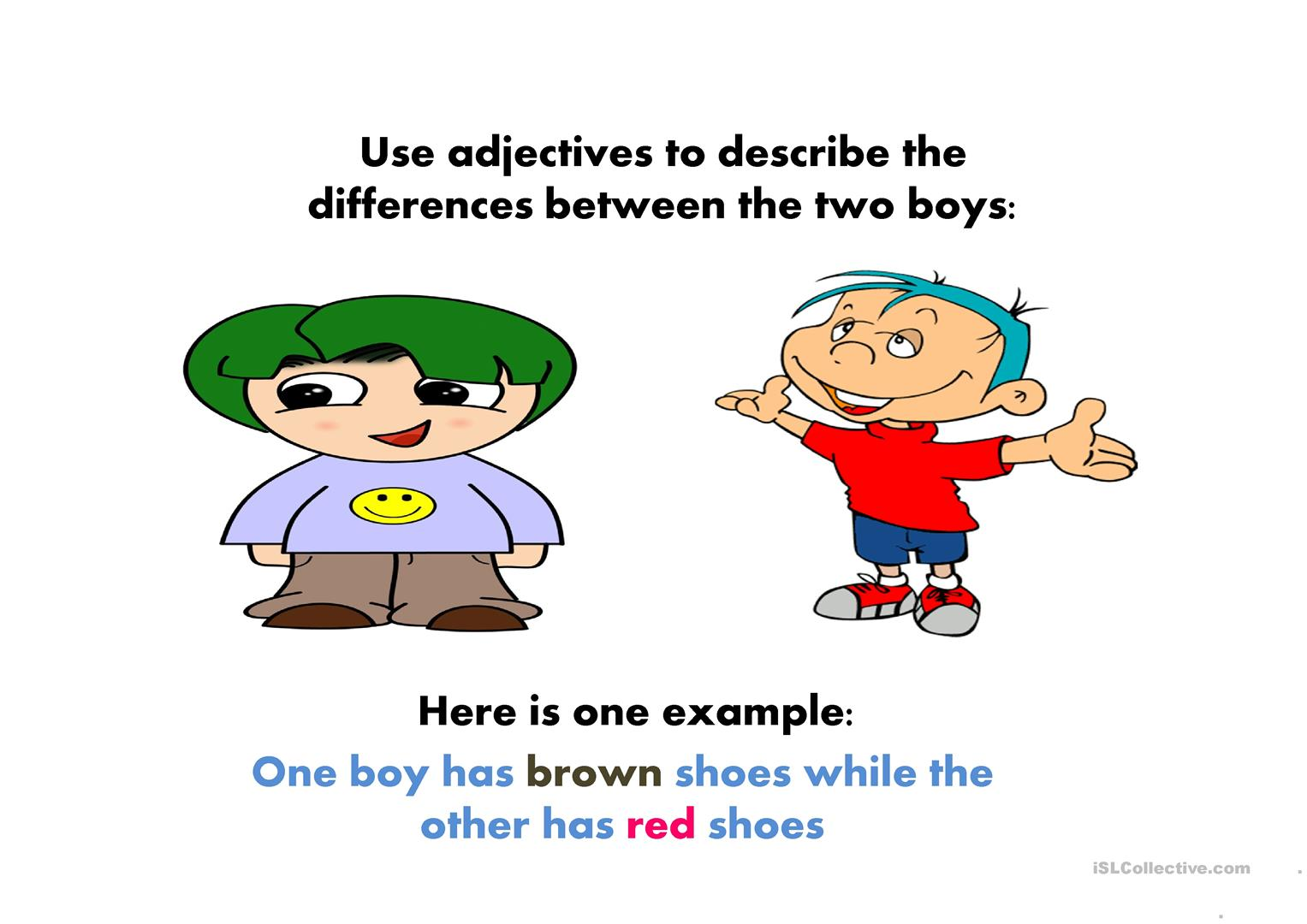 Adjective Worksheet