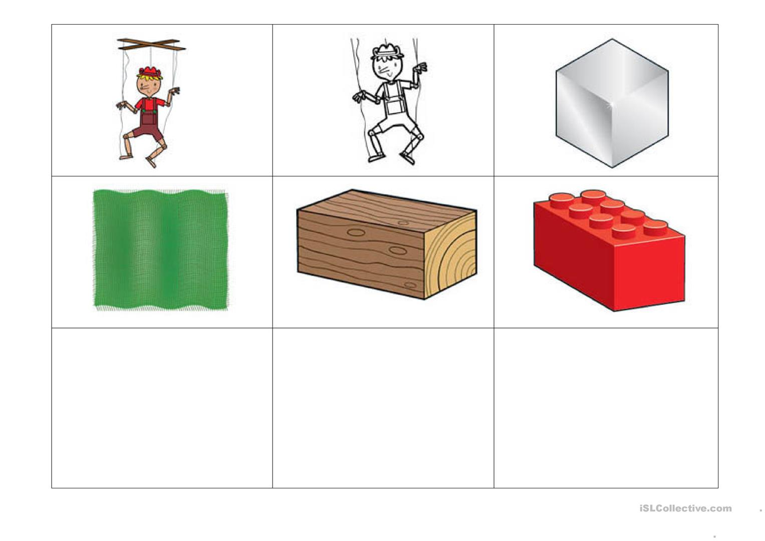 Memory And Category Game Worksheet