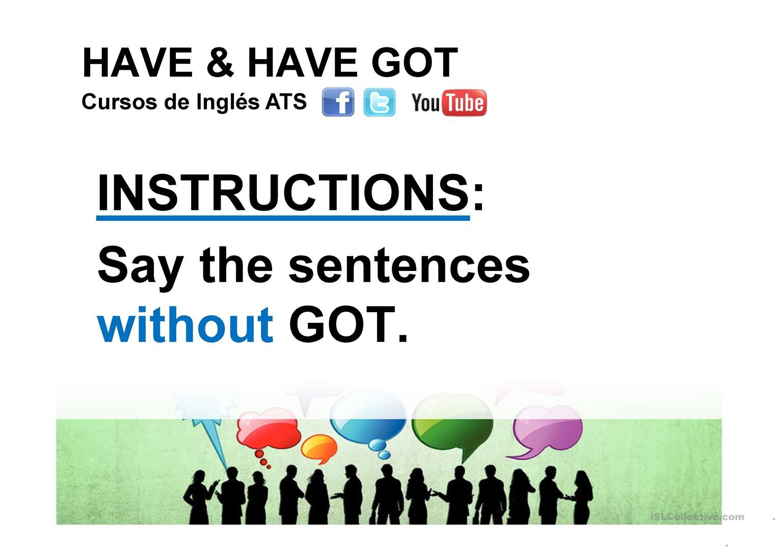 Have And Have Got Worksheet