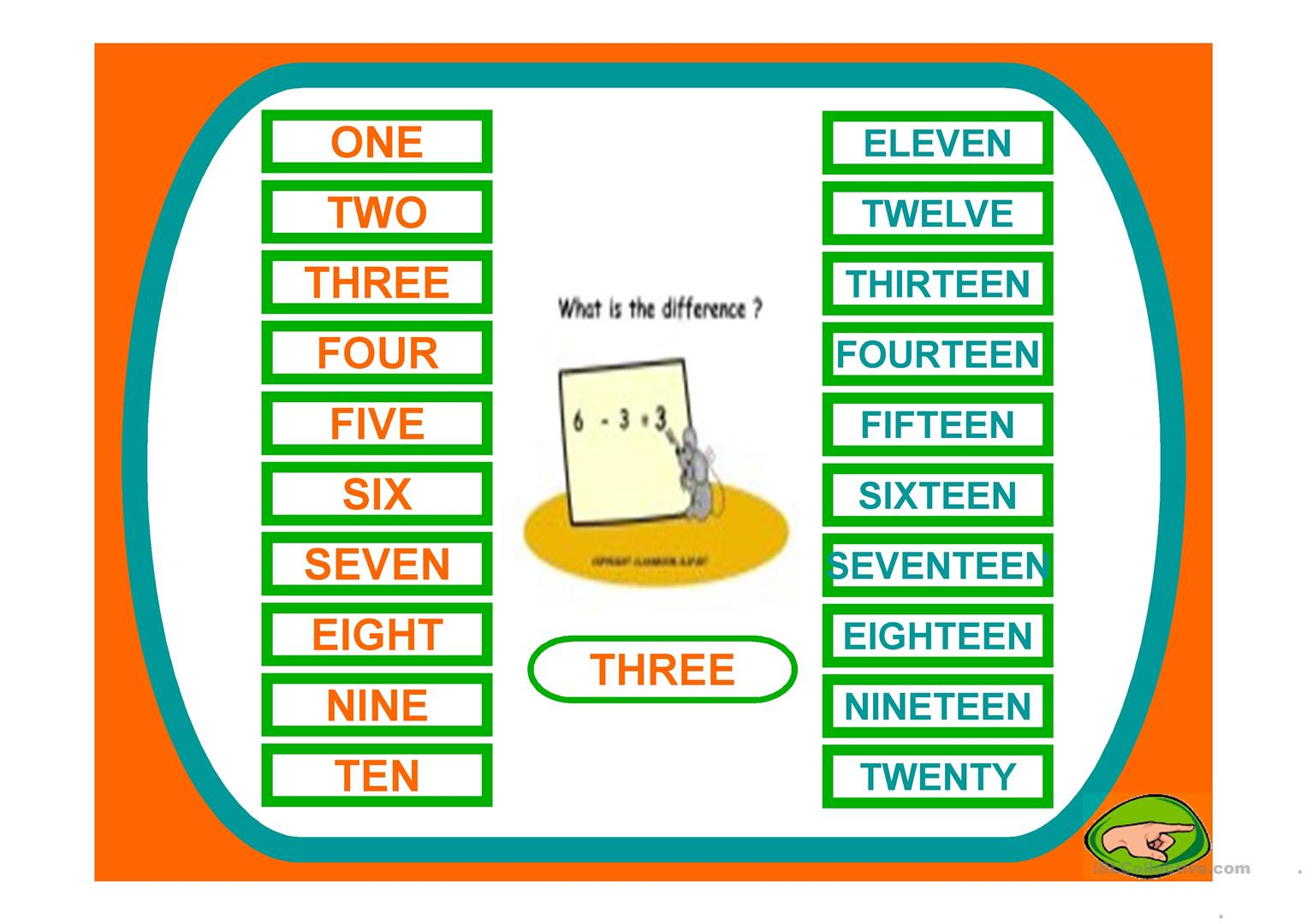 Numbers Game Worksheet
