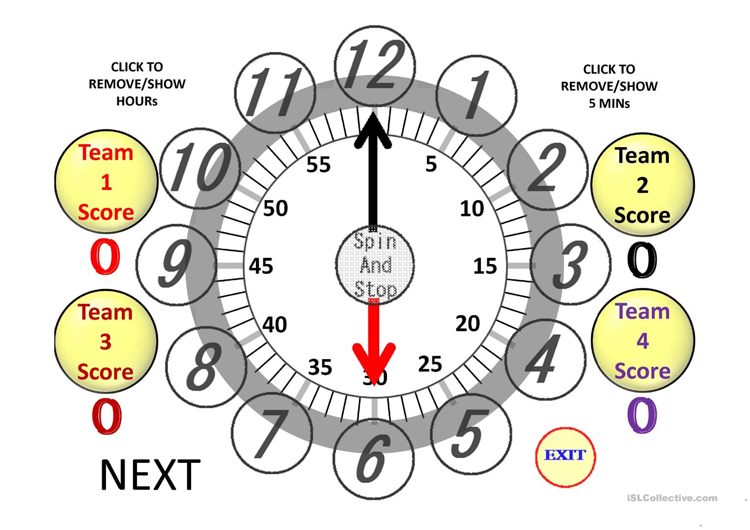 Random Clock To Learn The Time