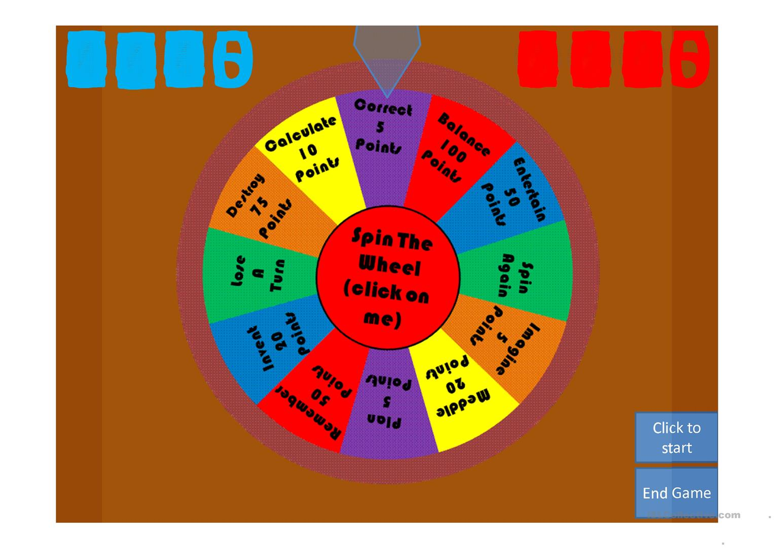 Spin Wheel Ob Worksheet