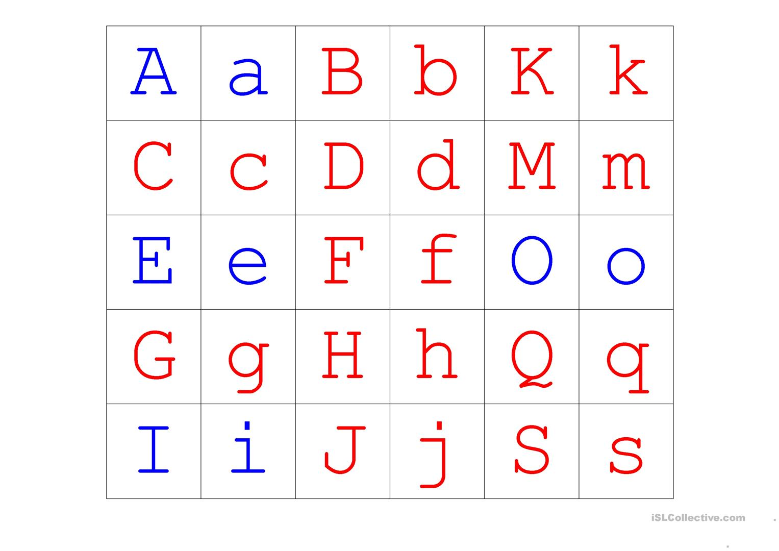 Upper Lower Case Alphabet Matching Worksheet