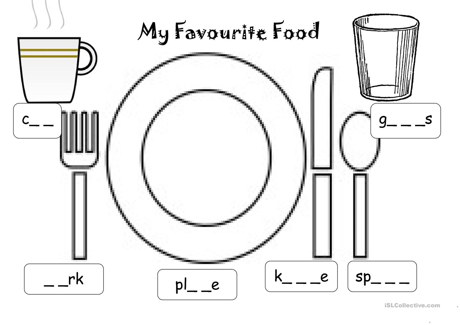 Favourite Food Worksheet