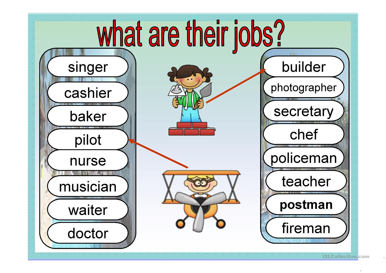 What Are Their Jobs Worksheet