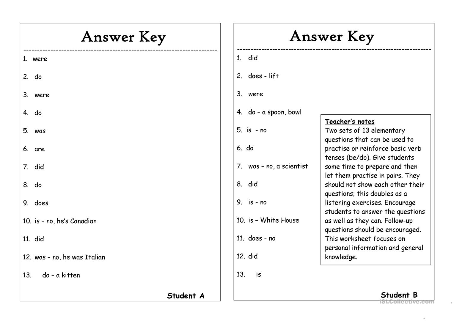 Esl Tag Questions Worksheets