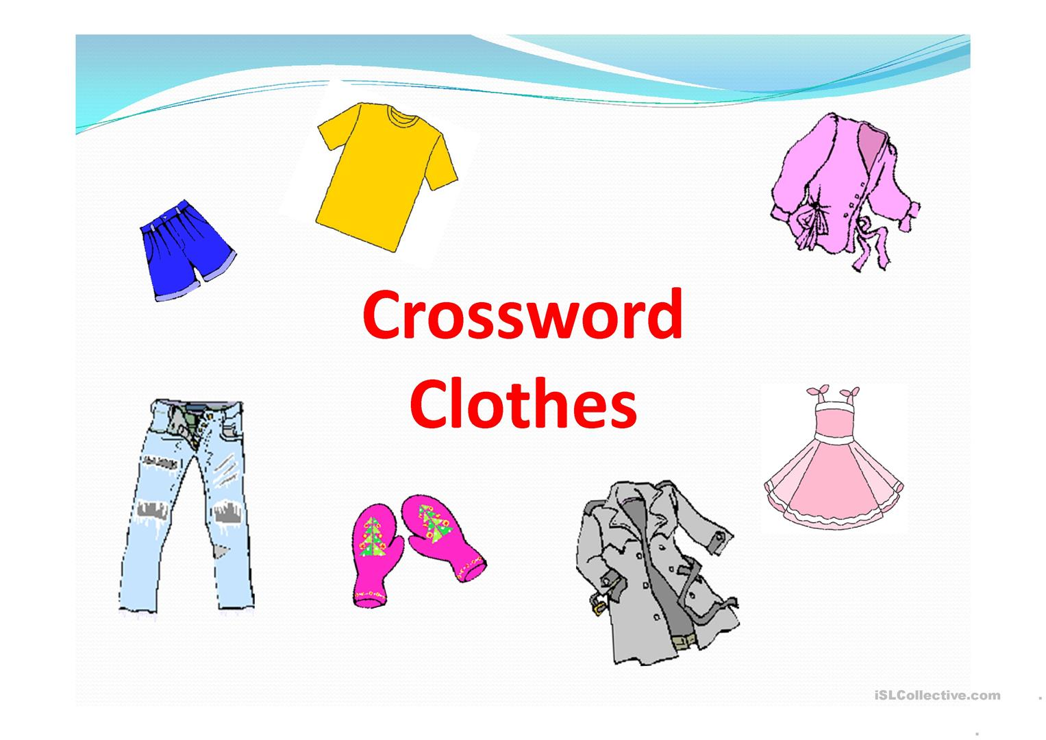 Crossword Clothes