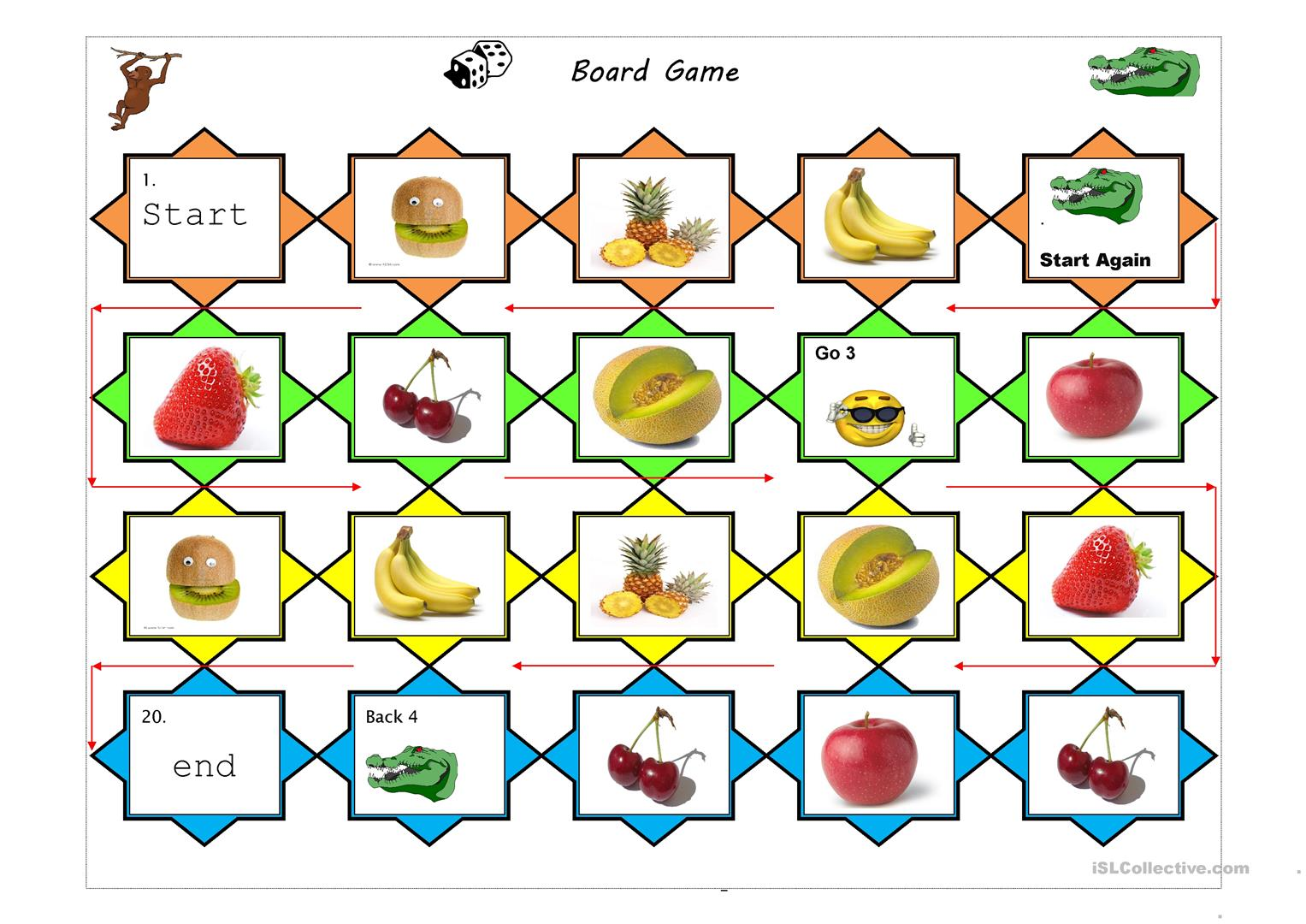 Fruits Board Game