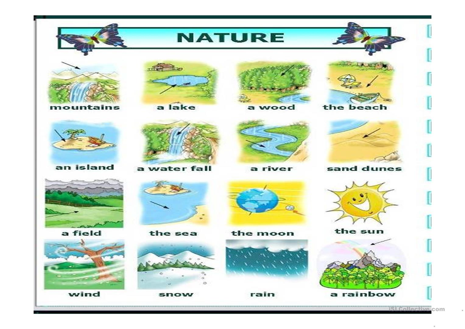 Esl Worksheet Nature