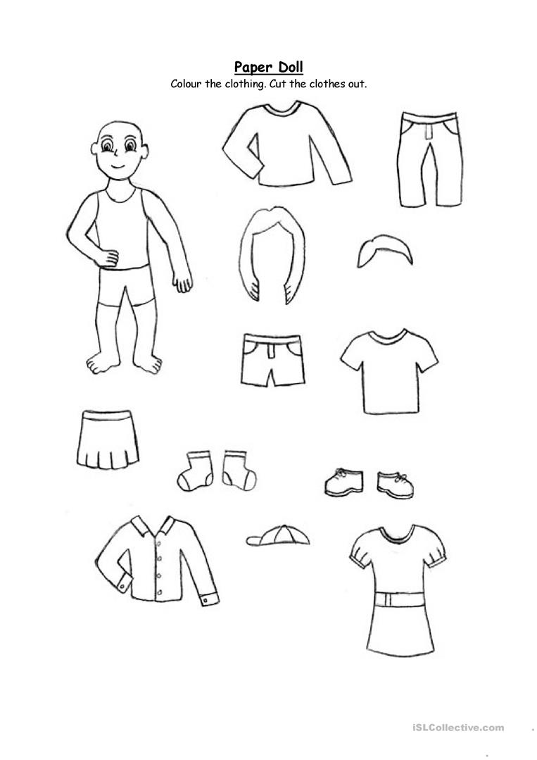 Paper Doll Clothing For 2nd Graders And Up