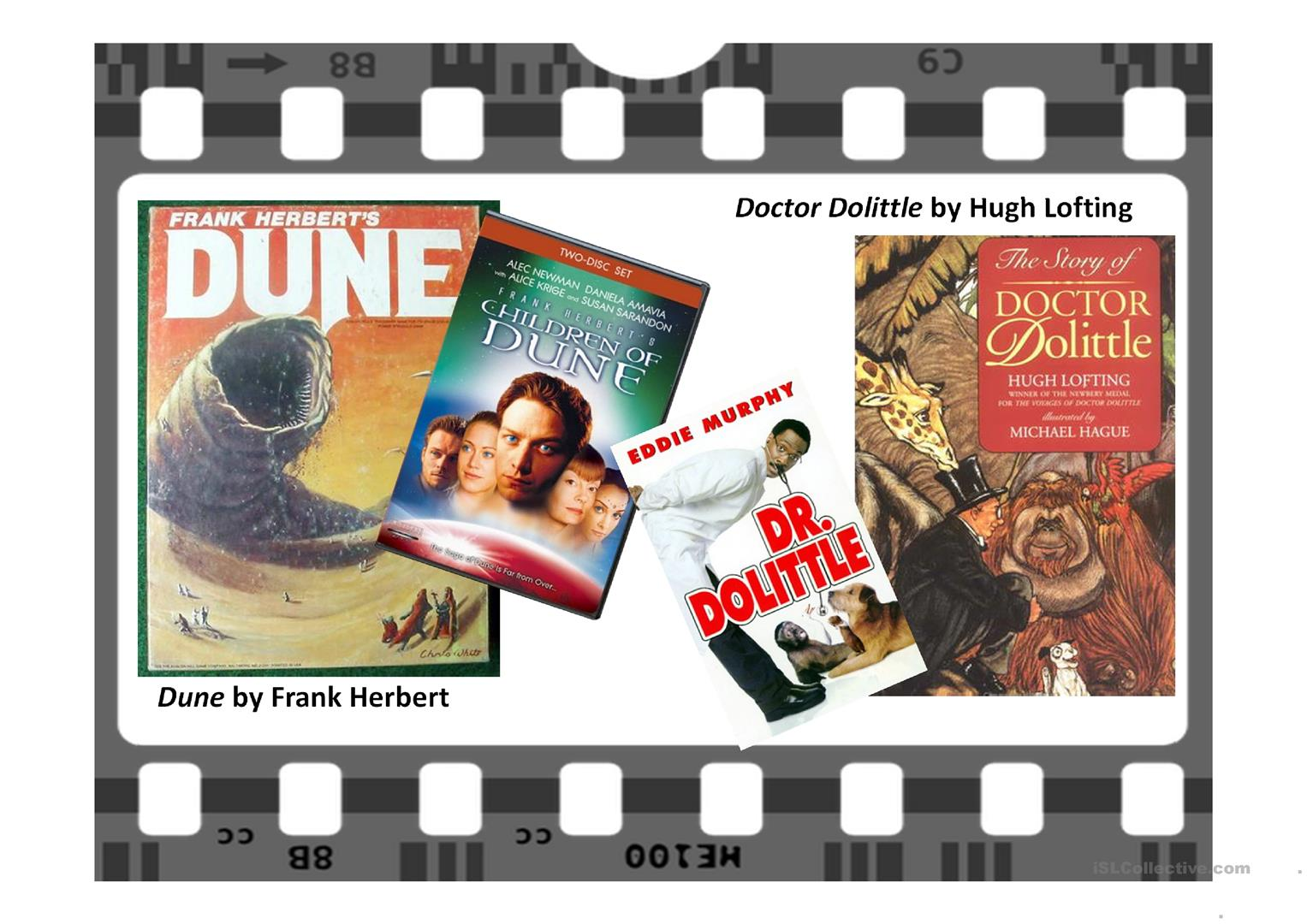 From Books To Films Worksheet