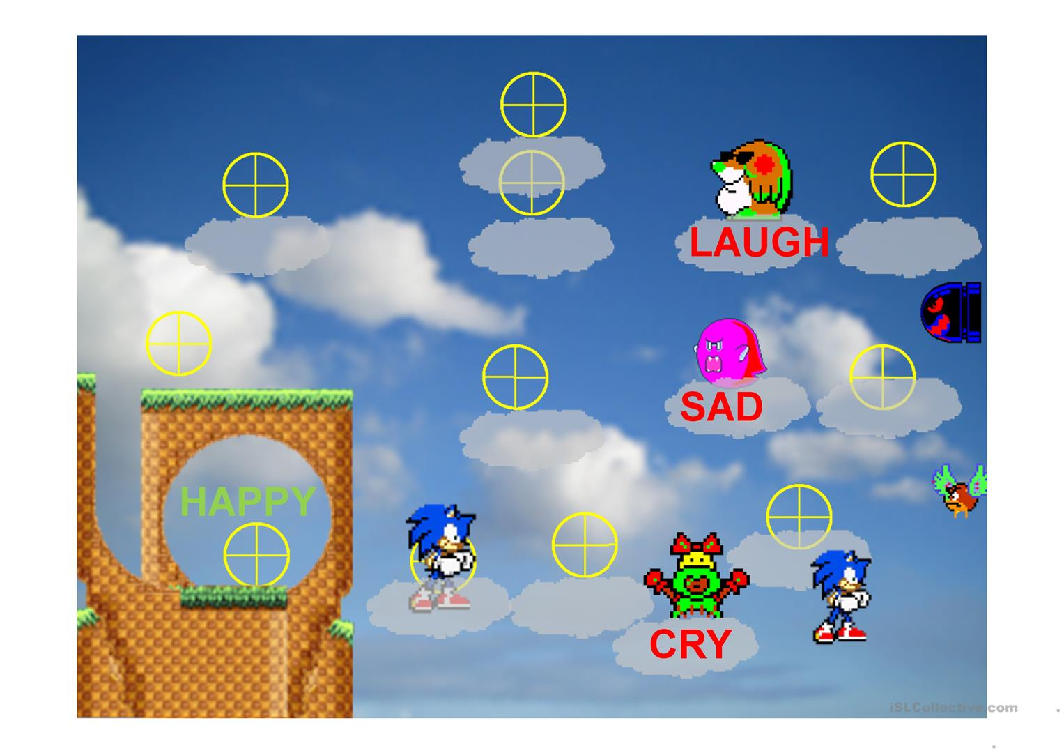 Opposites Sonic Game Worksheet