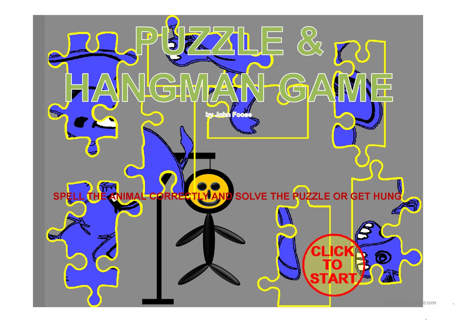 Spell The Animal Puzzle With Hangman
