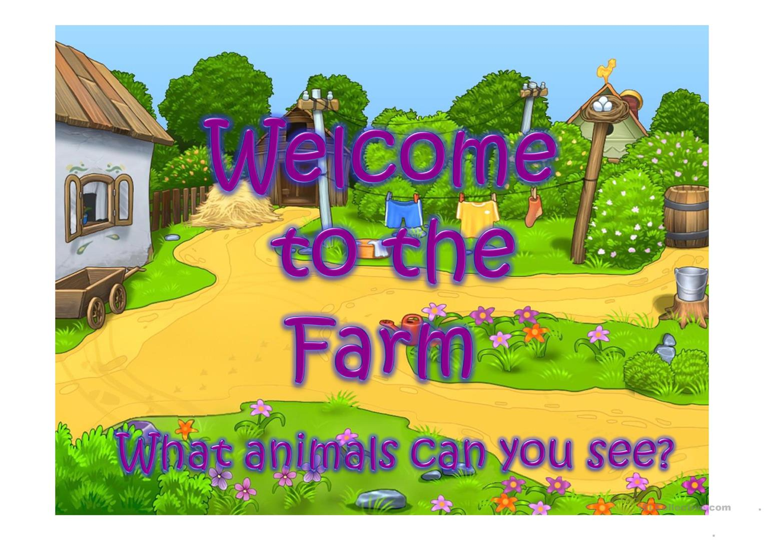 Welcome To The Farm Part 1 Worksheet