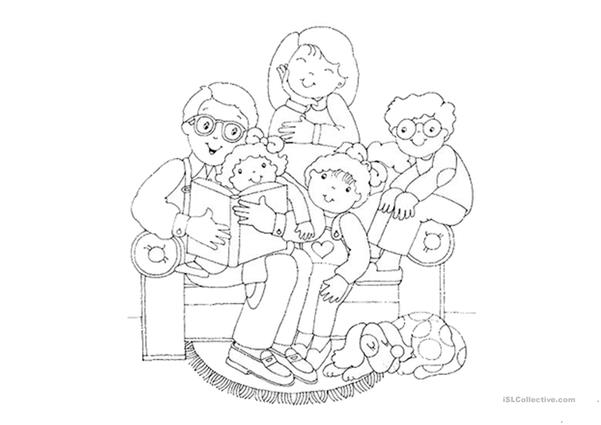Families Coloring Pages English Esl Worksheets For Distance Learning And Physical Classrooms