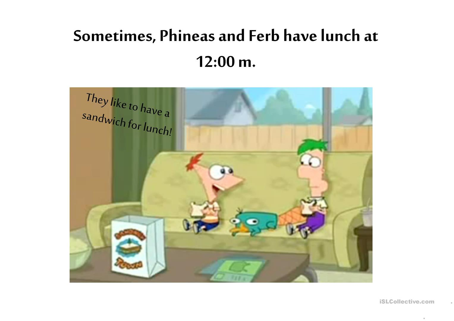 Phineas And Ferb S Daily Routine Worksheet
