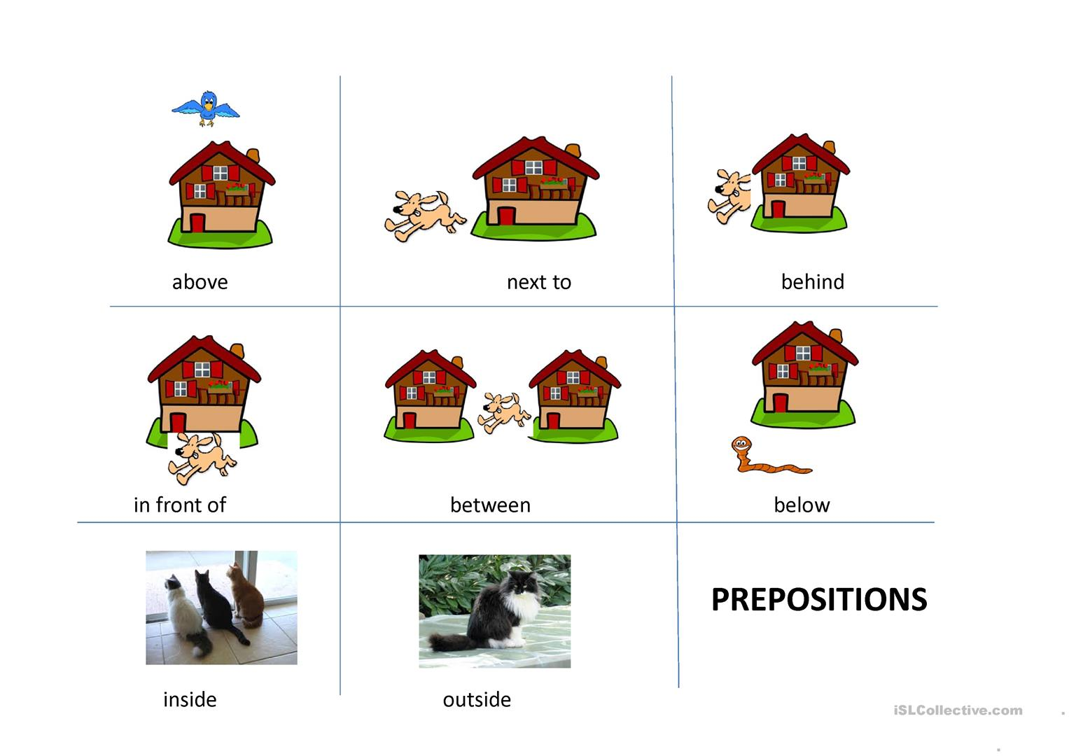 Easy Preposition Worksheets Free