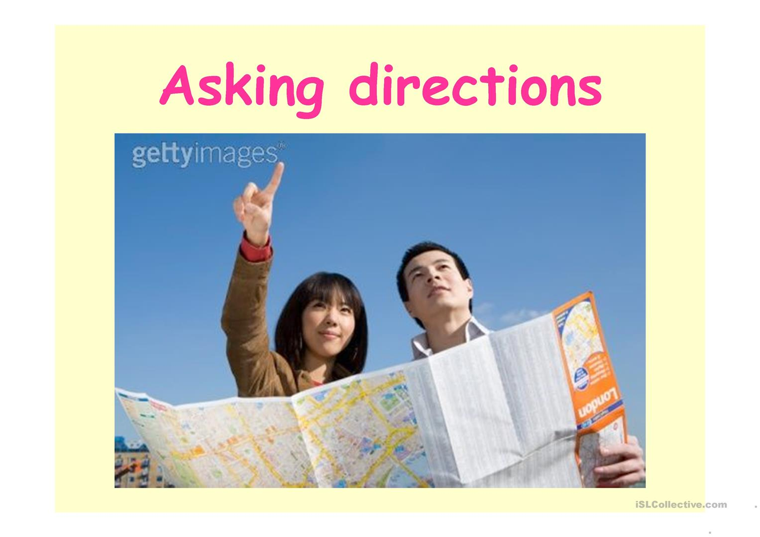 Asking For Directions Worksheet