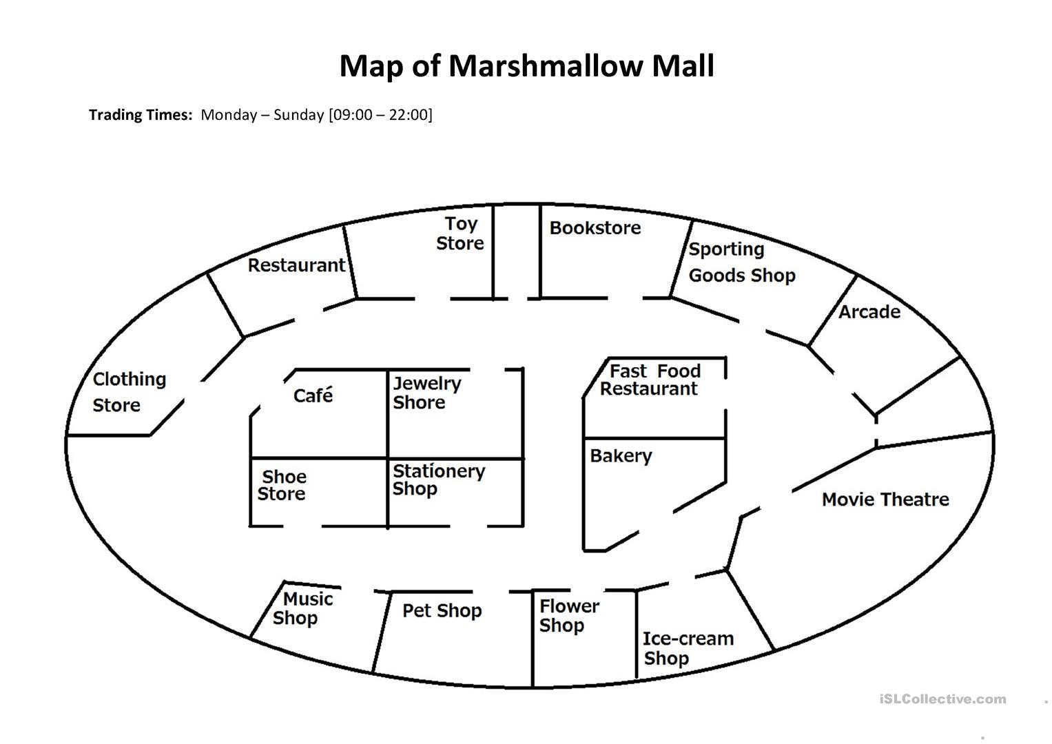 The Mall Worksheet
