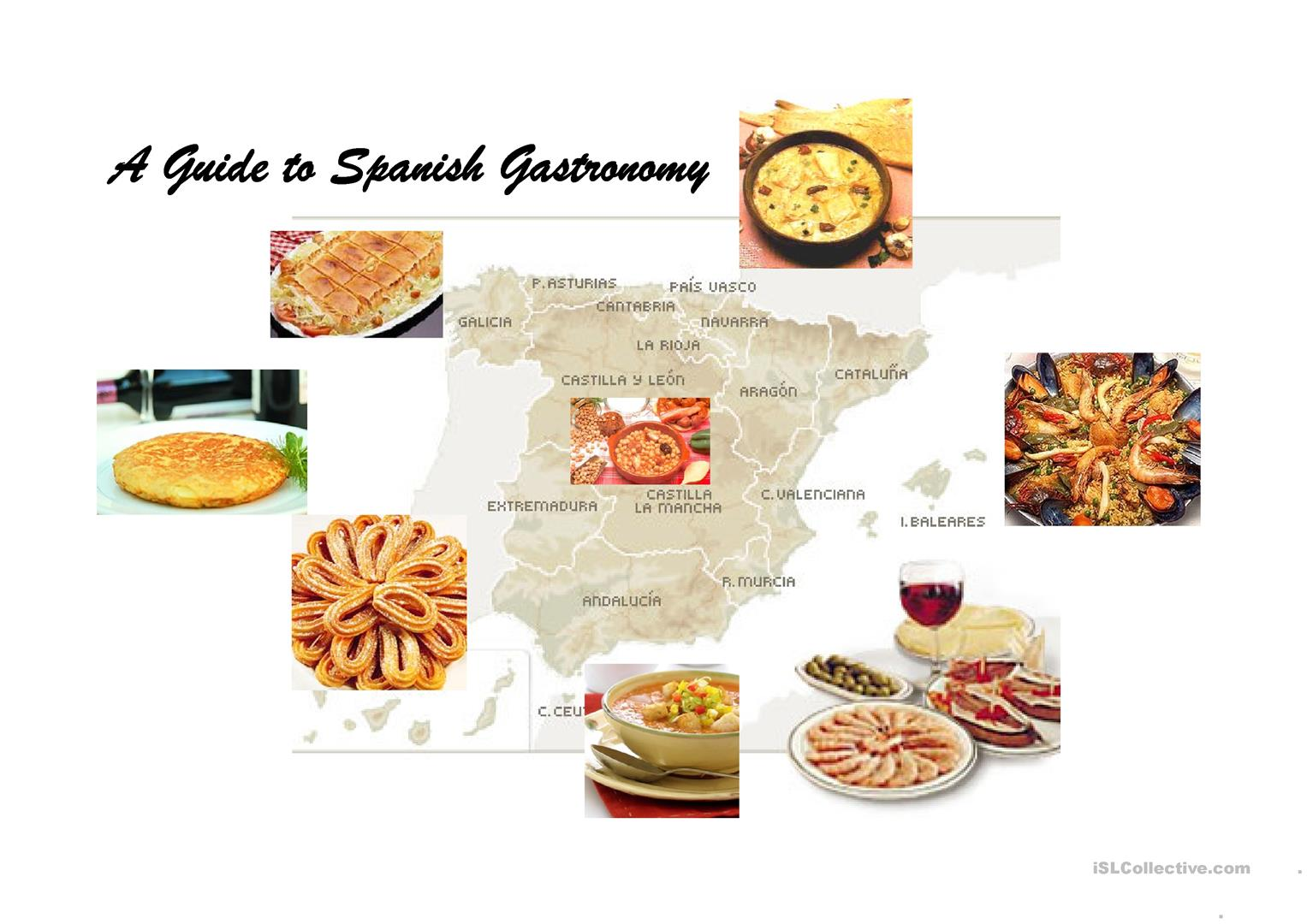 A Guide To Spanish Gastronomy Worksheet