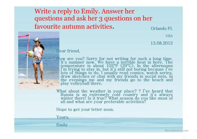 Personal letter writing - English ESL Powerpoints for distance