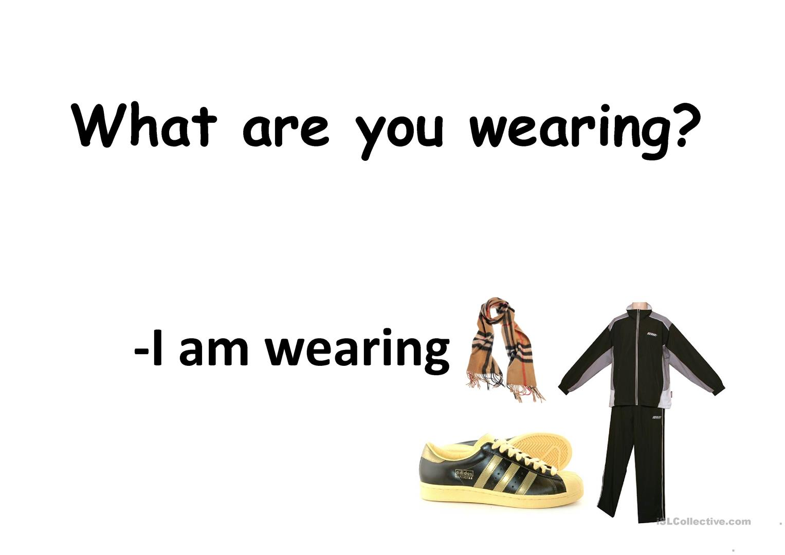 What Are You Wearing Worksheet