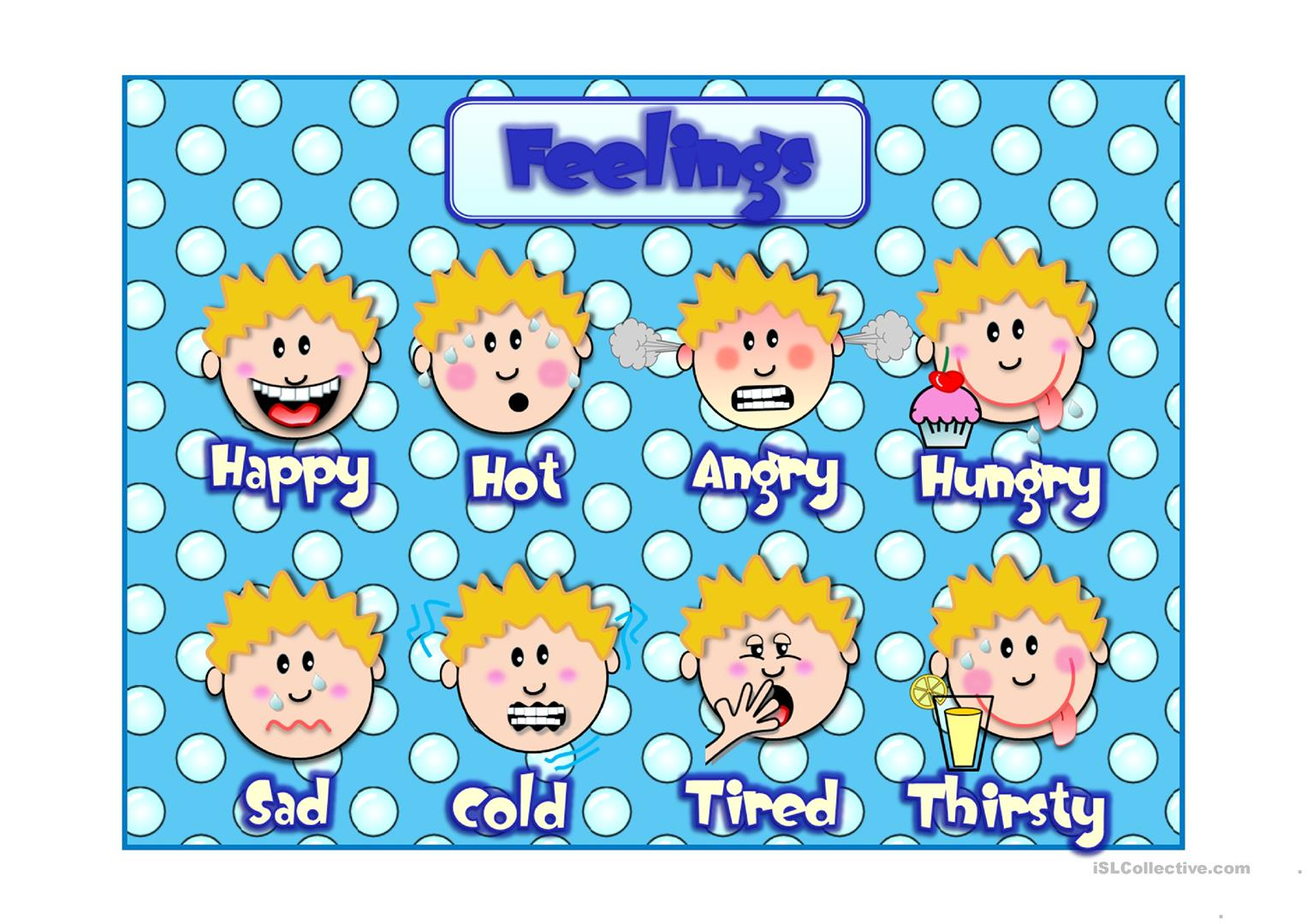 Feelings Multiplechoice Worksheet