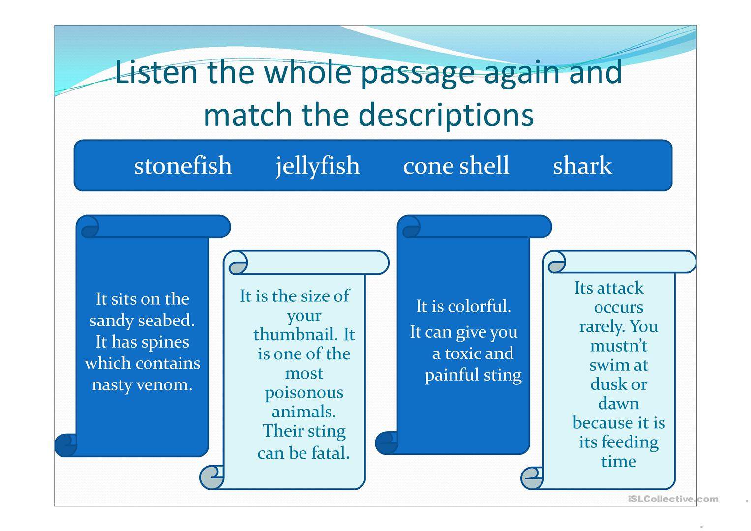Great Barrier Reef Worksheet
