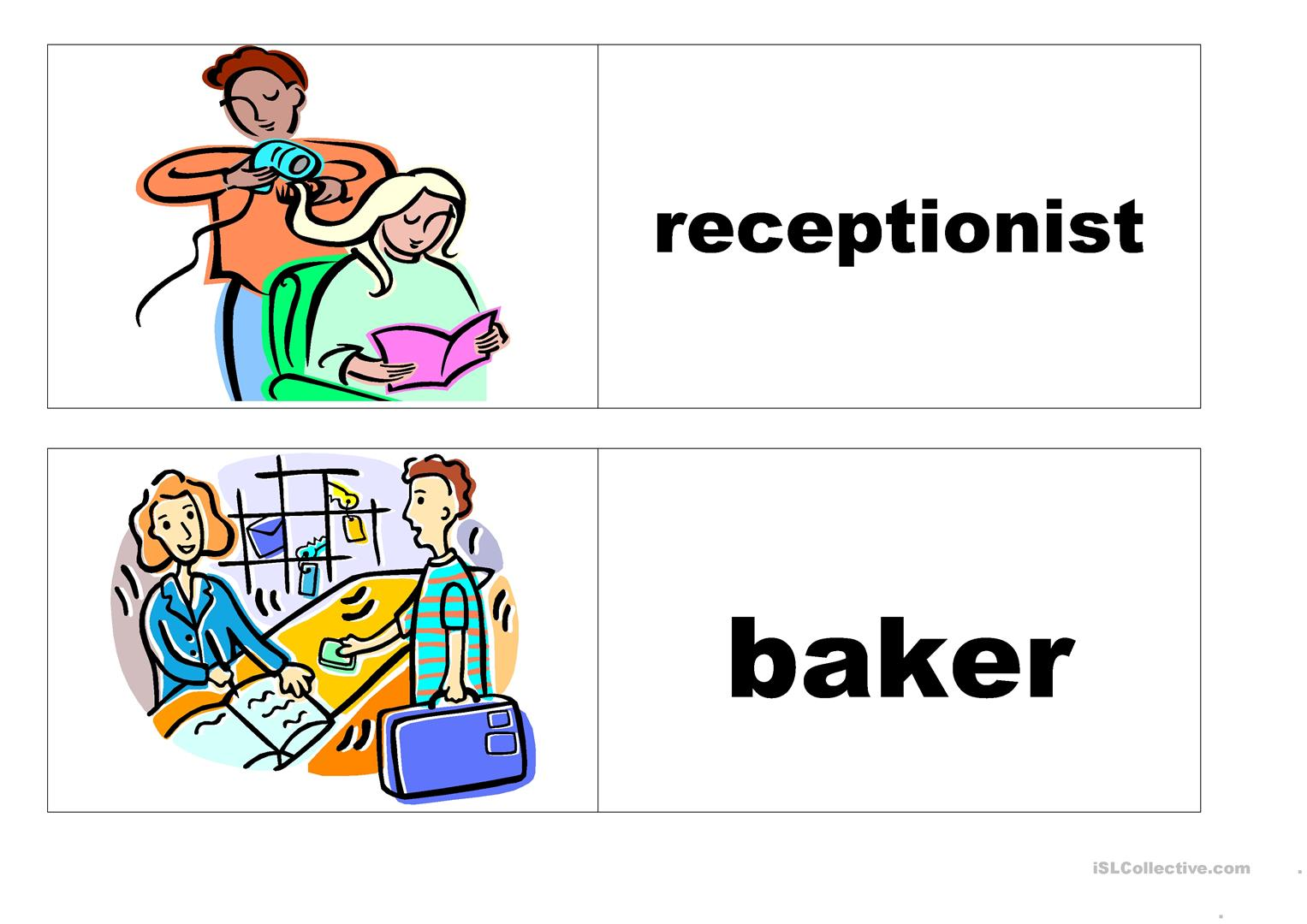 Job Flashcards Worksheet