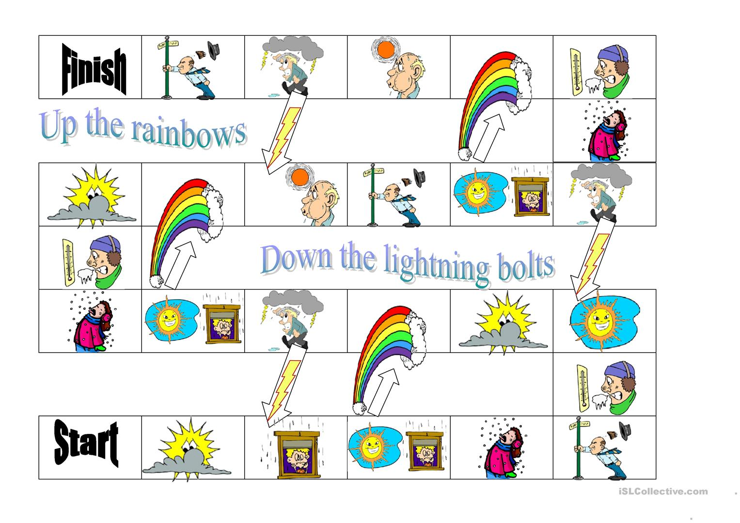Weather Board Game Worksheet