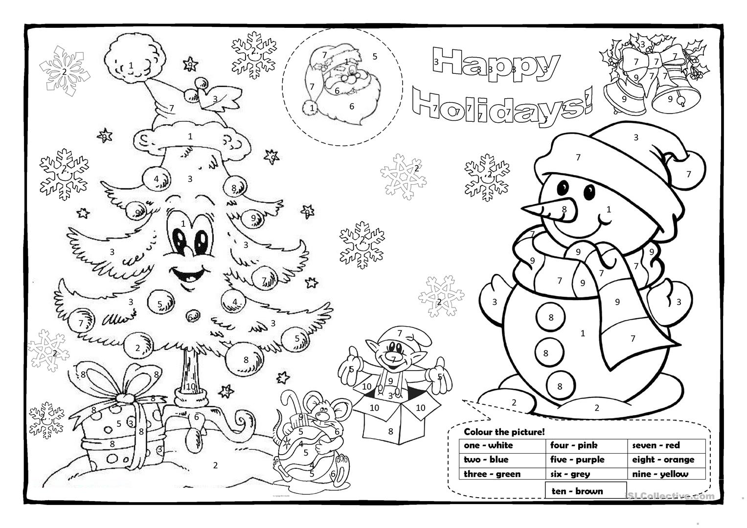 Christmas Colouring 1 Worksheet